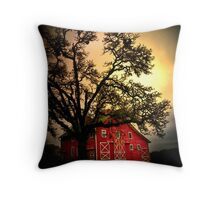 An Old Red Barn ~ Finley Refuge ~ Throw Pillow