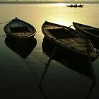 Boats of the Ganges by SerenaB