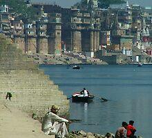 Peaceful Place Varanasi Ghats by SerenaB