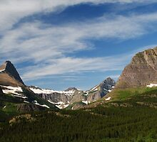Mountains in Many Glacier by BeckyMP