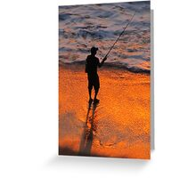 Sunset in the tropical paradise - Puesta del sol en el paraiso tropical Greeting Card