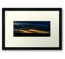 Skyburst Framed Print