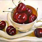 Still Life in Red and White...Cherries.. by © Janis Zroback