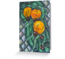 Peaches and Cherries Greeting Card
