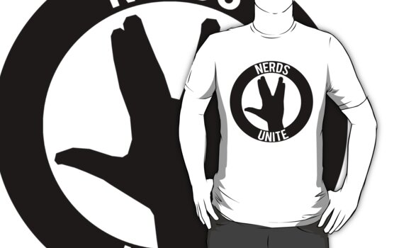 NERDS UNITE - VULCAN SALUTE by AlexNoir