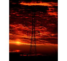 Sunset Behind the Dynamo Photographic Print
