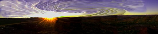 Sunset with swirl sky by Andrew (ark photograhy art)