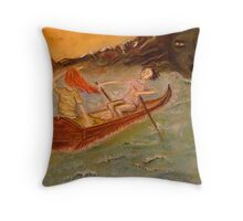 Look, she said, here comes the Flood ... Throw Pillow