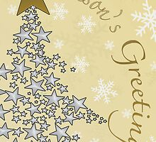 Golden Seasons Greetings Card by ladyluck7711