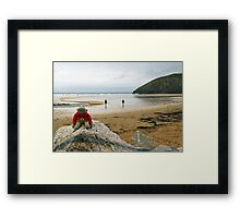 Jimmy at the summit! Framed Print