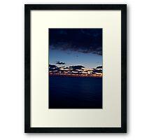 Sea, Sunset. Movement. Framed Print