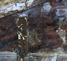 Metal and Wood in Abstract by Alixzandra