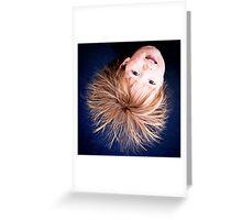 ...trampoline hair... Greeting Card