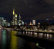 Frankfurter Skyline in the Night  by Ilja  Simon
