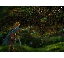 Strange Encounter in the Ancient Forest Photographic Print
