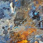 Metal, Rust and Paint in Abstract by Alixzandra