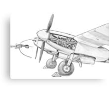 Mossie engine. Canvas Print