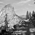 Yosemite: Shadows on the Trail (Black & White) by VioletHalo