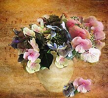 Hydrangea's in a Vase by Irene  Burdell
