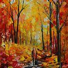 SECLUSION - original oil painting on canvas by Leonid Afremov by Leonid  Afremov
