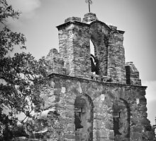Mission Bells - Black and White by Dawn Crouse