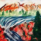 Spring Creek waterfalls, watercolor by Anna  Lewis