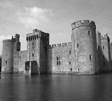 Bodiam Castle black and white by James Taylor