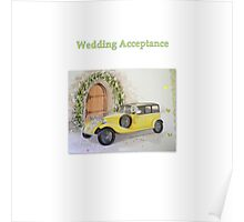 Wedding Acceptance Poster