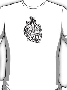 empty chest : anatomical heart (small) T-Shirt