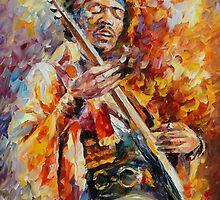 JIMY HENDRIX - Original oil painting on canvas by Leonid Afremov by Leonid  Afremov