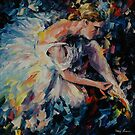 BALLERINA  - original oil painting on canvas by Leonid Afremov by Leonid  Afremov