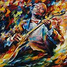 BB KING  - original oil painting on canvas by Leonid Afremov by Leonid  Afremov