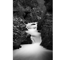 The Soteska Vintgar gorge in Black and White Photographic Print