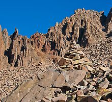 Mount Sneffels Spires and a Helping Rock Pile by Roschetzky