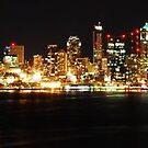 Nighttime in Seattle Panoramic by Tori Snow