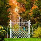 Garden Gate to the Autumn Trails by Monica M. Scanlan