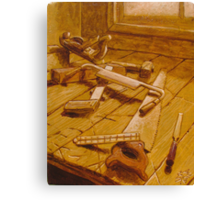 Study for Carpenter's Bench Canvas Print