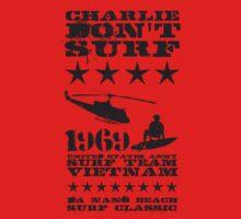 Surf team vietnam - Charlie don't surf - Black Kids Clothes