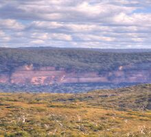 Blue Heaven (Panoramic)- Blue Mountains World Heritage Area - The HDR Experience by Philip Johnson
