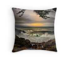 Little Whale Cove ~ Oregon Coast ~ Throw Pillow