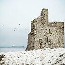 Ballybunion Castle Snow by Polly x