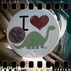 Dino Button by madamealyssa