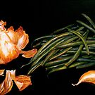 Garlic and Green Beans... by  Janis Zroback