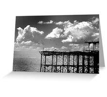 Burnt down Brighton Pier Greeting Card