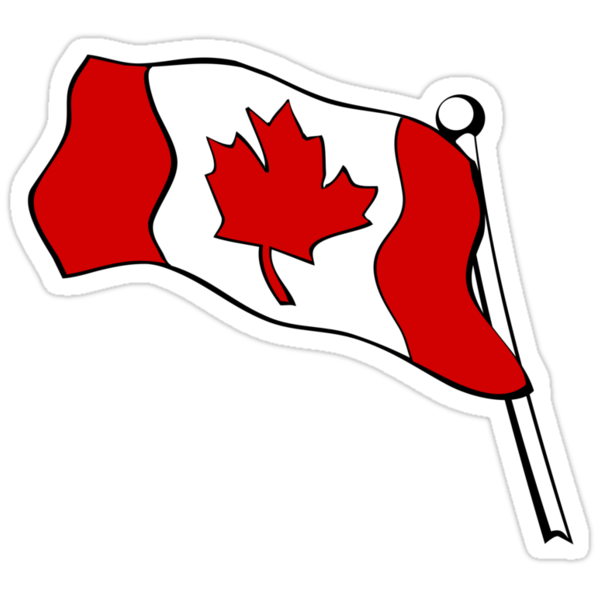 Waving Canadian Flag by mdkgraphics