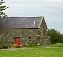 Irish Barn Conversion with Red Doors by Fara