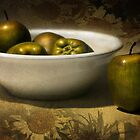 Green Apples by Cyn  Valentine