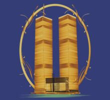 Gold Twin Towers Oval by Lotacats