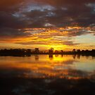Sunset  Reflection by EvelynMC