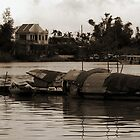 Hoi An Canal - Sepia by Jordan Miscamble